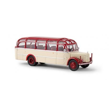 """Brekina 58085 Buss Gräf & Stift 120 OGL """"Glockner Bus"""", ljuselfenben/rubinröd"""