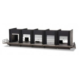 "Herpa 076708 Building fronts of a forwarder building ""Loading dock"" (five gates)"