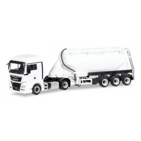 Herpa 013208 Herpa MiniKit: MAN TGX XLX bulk silo semitrailer, white
