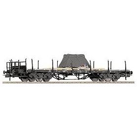 Roco 47223 Flakvagn med last av dieselmotor, övertäckt DB