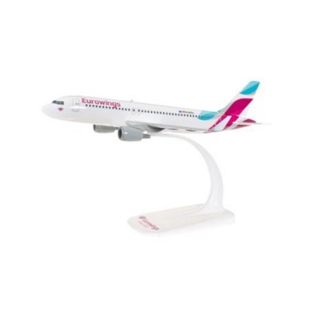 Herpa 610674.1 Flygplan Eurowings Airbus A320, snap-fit