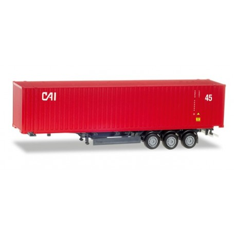 "Herpa 076791 45 ft. container semitrailer ""CAI"""