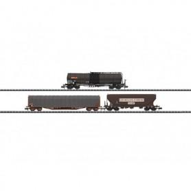 """Trix 15448 Vagnsset med 3 olika vagnar """"SNCF Freight Transport"""""""