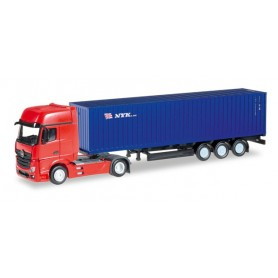 "Herpa 066471 Mercedes Benz Actros Gigaspace container semitrailer ""NYK""."