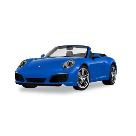 Herpa 038843 Porsche 911 Carrera 2 Cabrio, saphir blue metallic