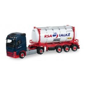"Herpa 917834 Volvo FH Gl. swapcontainer semitrailer ""RSA Talke"""
