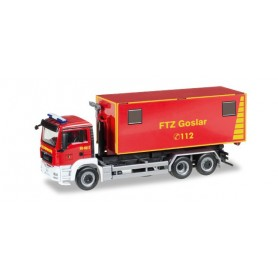 "Herpa 092722 MAN TGS M truck chassis with load handling system ""Goslar fire department"""