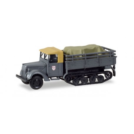 """Herpa 746229 Ford 917 T replacement Maultier with load under canvas """"Jagdgeschwader 3 / Udet"""""""