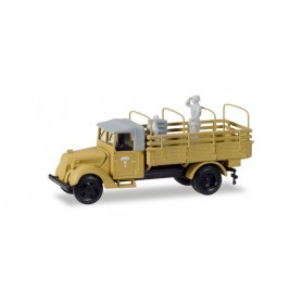 "Herpa 746205 Ford 3000 replacement army truck with platform and tarp hoops ""Das Deutsche Afrikakorps von Rommel"""