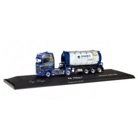 "Herpa 121811 Scania CS 20 HD container semitrailer ""Ingo Dinges"""