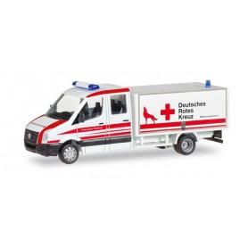 """Herpa 093484 VW Crafter with box """"DRK Wolfsburg"""""""