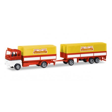 """Herpa 308021 Ford Transconti canvas cover trailer """"Autotransit"""" (S)"""