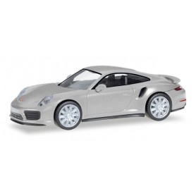 Herpa 038614.2 Porsche 911 Turbo, rhodium silver metallic