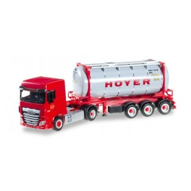 """Herpa 306072 DAF XF SC Euro 6 chemical tank container semitrailer """"HOYER"""""""