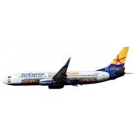 "Herpa 611053 Flygplan SunExpress Boeing 737-800 ""El Gouna Shuttle"", snap-fit"