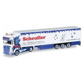 """Herpa 306393 DAF XF SSC Euro 6 refrigerated box semitrailer """"Scheufler"""""""