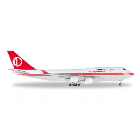 Herpa 529679 Flygplan Malaysia Airlines Boeing 747-400 - Retro colors