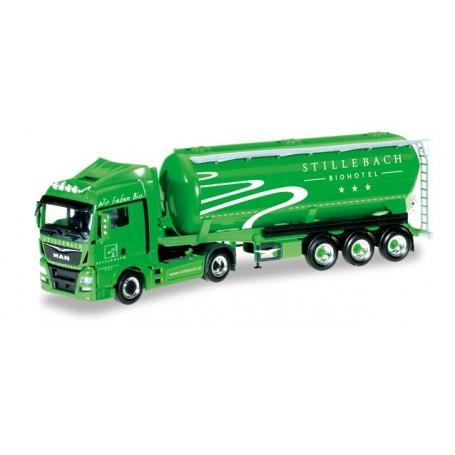 "Herpa 306775 MAN TGX XLX Euro 6 silo semitrailer ""Silo Melmer / Biohotel Stillebach"" (A)"
