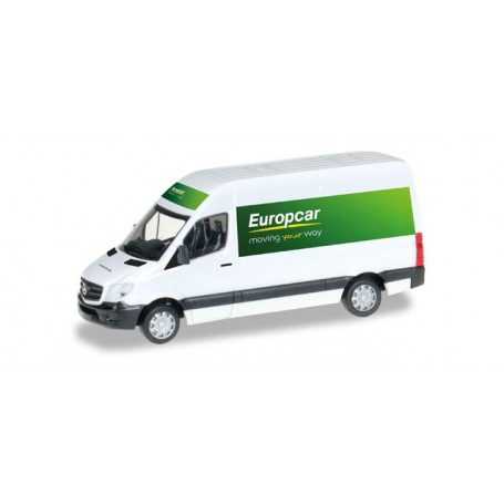 "Herpa 092753 Mercedes Benz Sprinter `13 with high roof ""Europcar"""