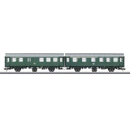 Märklin 43193 Vagnsset med 2 personvagnar typ DB, med innerbelysning