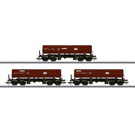 """Märklin 48456 Vagnsset med 3 bulktransportvagnar typ Fas 680 """"On Rail"""""""