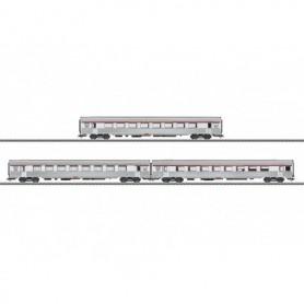 """Märklin 41879 Vagnsset med 3 personvagnar """"PBA TEE Express"""" typ SNCB/NBMS"""