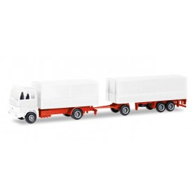 Herpa 013192 Herpa MiniKit: Ford Transconti canvas cover trailer, white