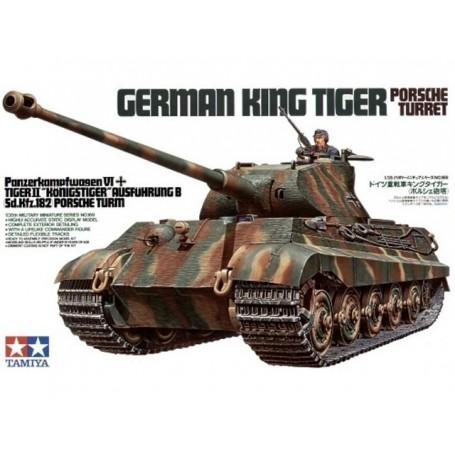 Tamiya 35169 Tanks German King Tiger Porsche Turret