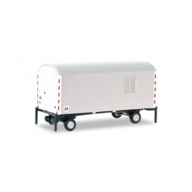 Herpa 076395.2 construction trailer, white