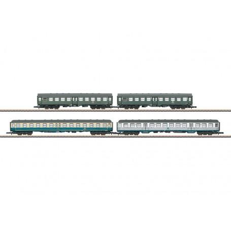 """Märklin 87549 Vagnsset med 4 personvagnar typ DB """"Heckeneilzug"""""""