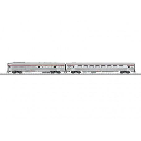 """Trix 23493 Vagnsset med 2 personvagnar """"TEE"""" SNCF"""