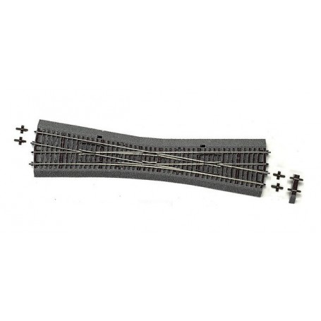 Roco 42591 Korsningsväxel med banvall, manuell, 10°, radie: 959 mm, längd: 345 mm