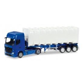 Herpa 013031 Herpa MiniKit: Mercedes-Benz Actros Giga bulk container semitrailer, unprinted