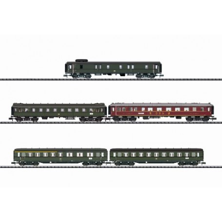 "Trix 15680 Vagnsset med 5 personvagnar ""D 182"" typ DB"
