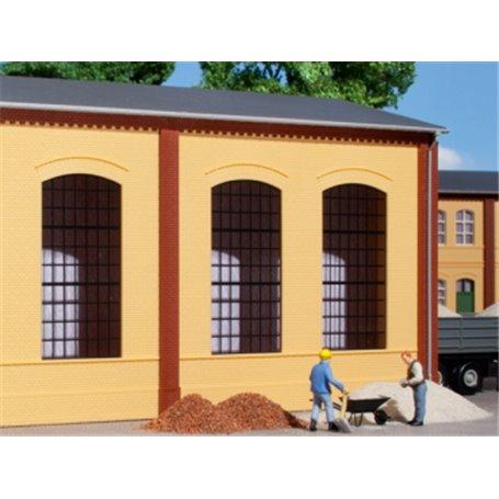 Auhagen 80603 Walls 2325A yellow, industrial windows E