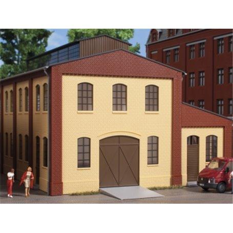 Auhagen 80618 Walls 2391A yellow, industrial windows L