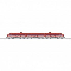 Märklin 39622 Diesellektriskt motorvagnståg 3-delat typ EMD F7 'Coca-Cola'