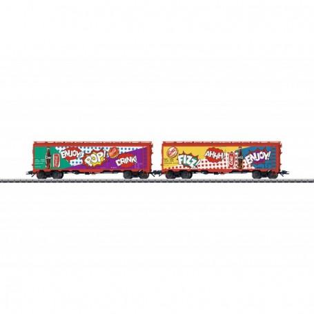 Märklin 45685 Vagnsset med 2 godsvagnar 'Coca-Cola'