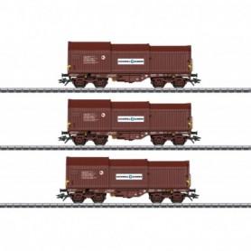 Märklin 46873 Vagnsset med 3 teleskopvagnar Shimmns typ SNCB|NMBS
