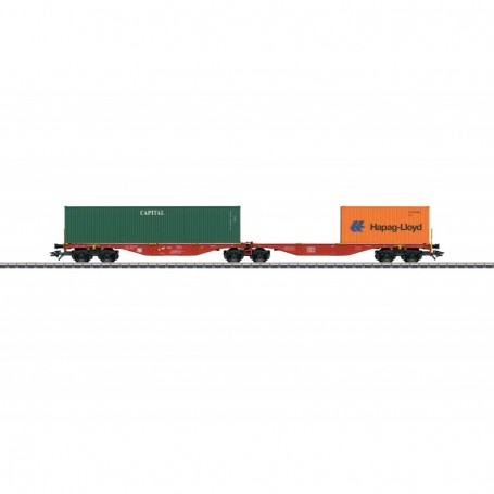 Märklin 47801 Dubbel containertransportvagn Sggrss 80 'Railion' typ DB AG