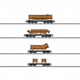 Märklin 48695 Vagnsset med 4 tungtransportvagnar typ DB