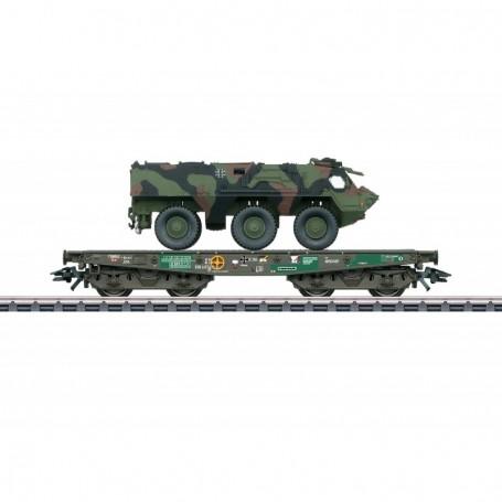 Märklin 48794 Tungtransportvagn Rlmmps typ DB AG med last av Fuchs 1