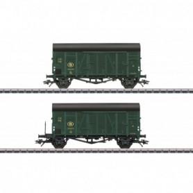 Märklin 48832 Vagnsset med 2 godsvagnar 'Oppeln' typ SNCB