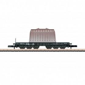 Märklin 82342 Tungtransportvagn Ssym 46 typ DB med last av stål