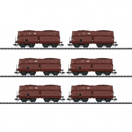 Trix 24122 Vagnsset med 6 självavlossande vagnar typ DRB