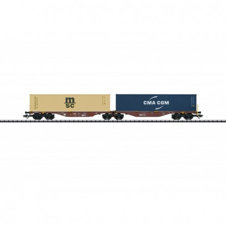 Trix 24800 Dubbel containervagn Sggrss 80 typ CD Cargo