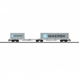 Trix 24801 Dubbel containervagn Sggrss 80 typ AAE