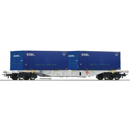 Roco 76947 Containervagn Sgns typ AAE 'Ekol'