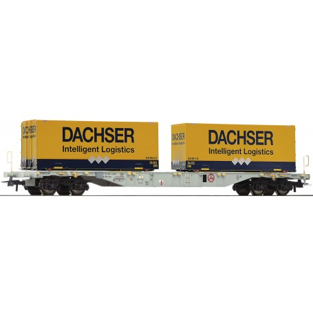 Roco 76921 Containervagn Sgns typ AAE 'Dachser'
