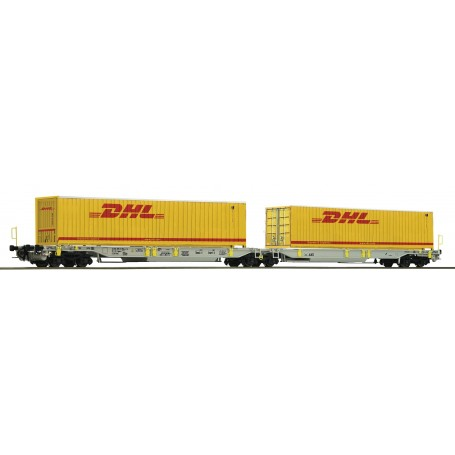 Roco 76421 Containervagn Sdggmrs|T2000 AAE 'DHL'